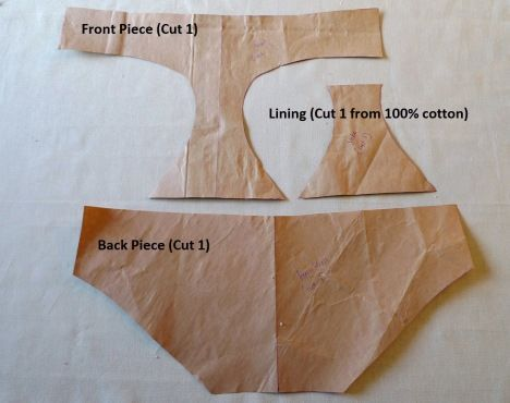 how to make a pattern for and sew your own underwear so they fit like they should, would also work for swimsuit bottoms