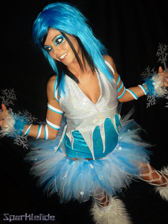 Ice Princess Rave Costume. $250.00, via Etsy.