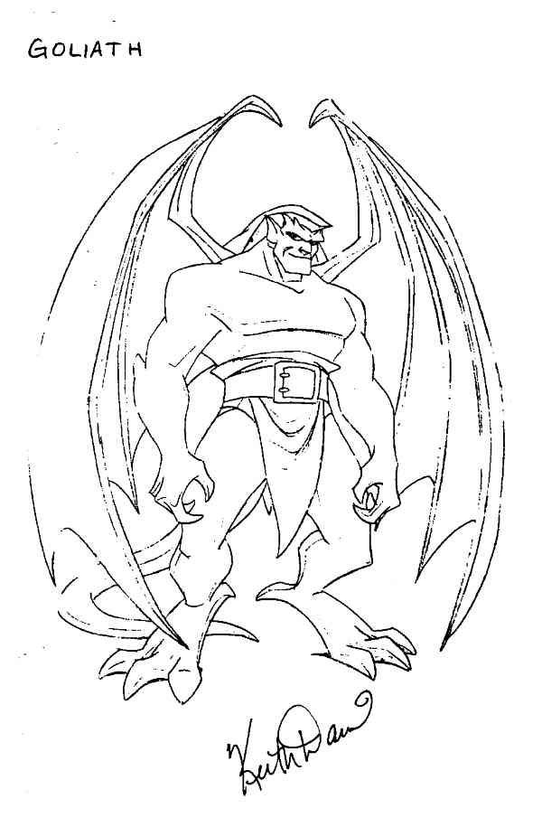 gargoyles characters coloring pages - photo#12