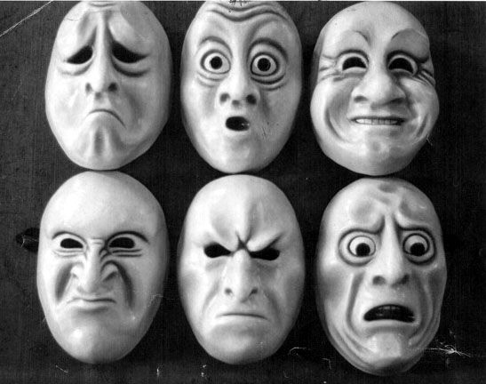 The masks we wear, specially the happy mask, in everyday life to not show what is going on inside ..