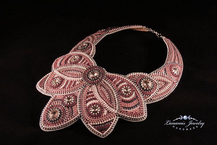 necklace, collar, bead embroidery, beading,  handmade, jewelry, bead