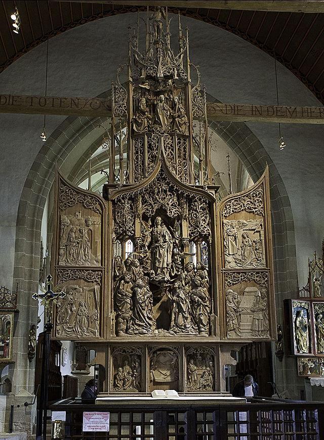Una meraviglia di Tilman Riemenschneider, l'Altare di Maria #Art #artlovers #MuseoIdeale  @artdielle @benedet609