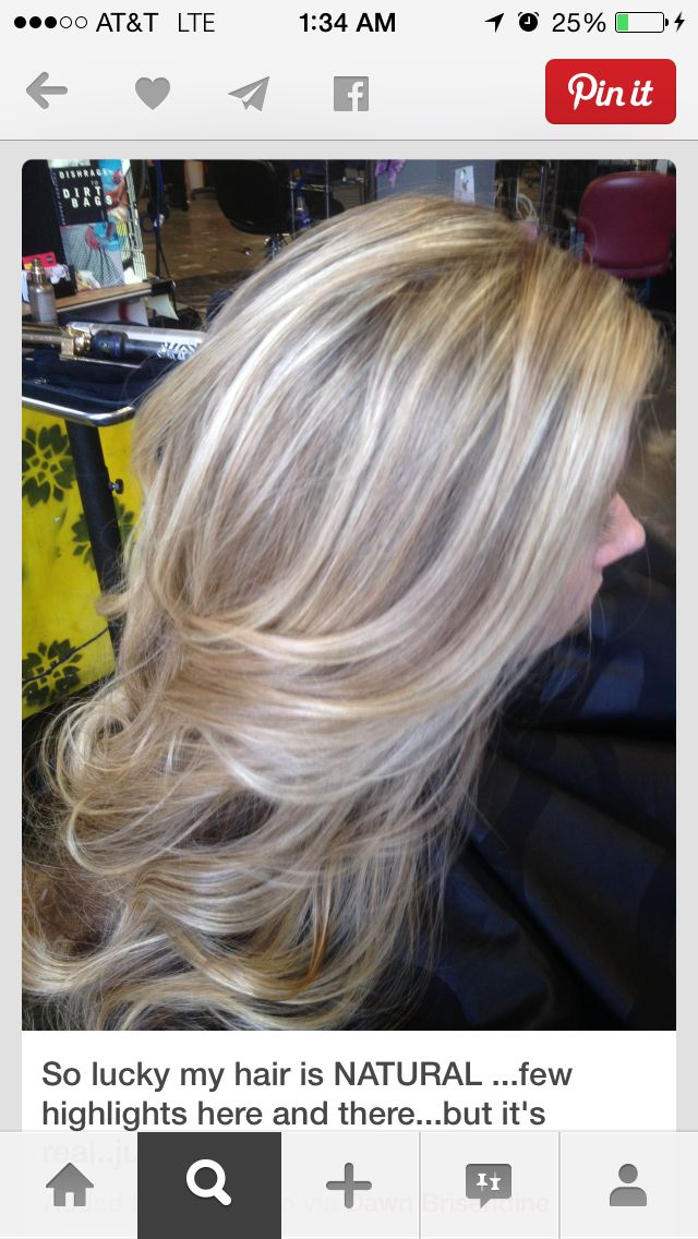 Long light ash blonde hair with natural ash brown highlights and lowlights.