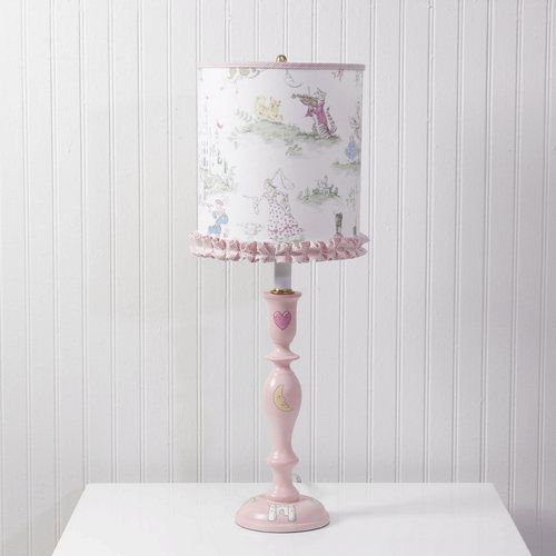 Pink Nursery Rhyme Lamp with Shade