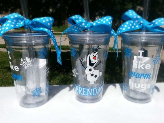 Personalized Olaf Frozen Vinyl Tumbler Cup by KimRamirezcreations, $12.00