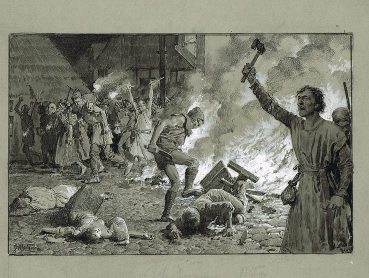 FORTUNINO MATANIA RICHARD FIRING THE JEWISH QUARTERS, in AnthonySmith's FORTUNINO MATANIA For Sale Comic Art Gallery Room