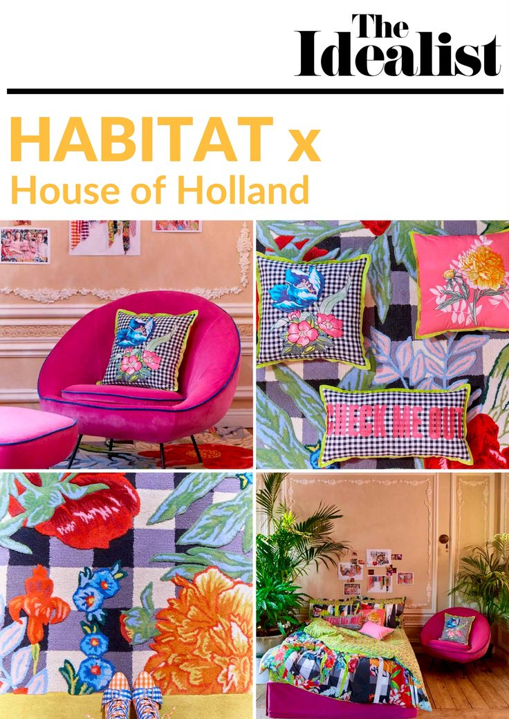 Take a look at our favourite pieces from the new House of Holland x Habitat collection. It's a riot of spring, with fluorescent colours, bold 3D patterns and florals galore.