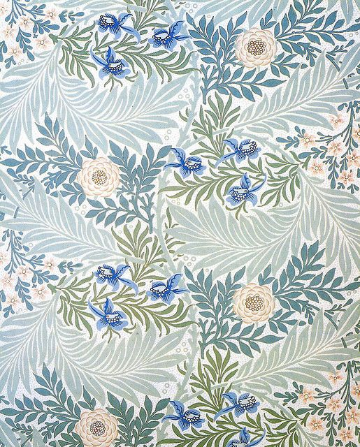Beautiful Floral Wallpaper /// Morris & Co 'Larkspur' 1872