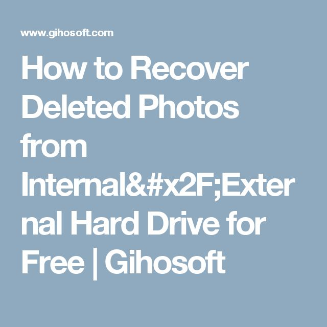 Solution for photo recovery from internal hard drive and external hard drive. RePicvid free photo recovery help you restore deleted pictures freely.