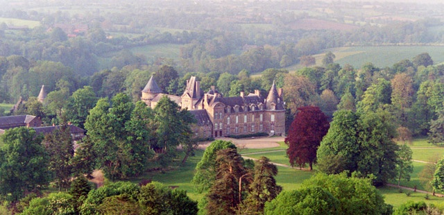Château de Canisy is a nearly thousand-year-old family estate set on seven-hundred rolling acres of Norman countryside. This French castle operates as a Bed & Breakfast with sixteen guest rooms.