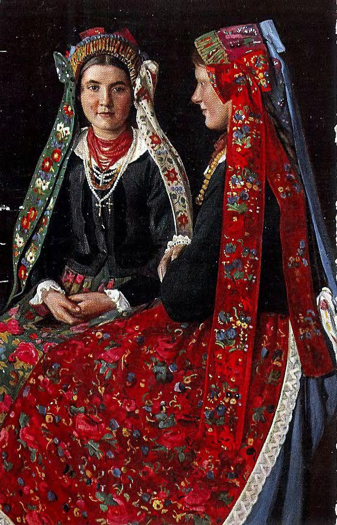 Florian Piekarski 1868 1919 Traditional flower crowns from