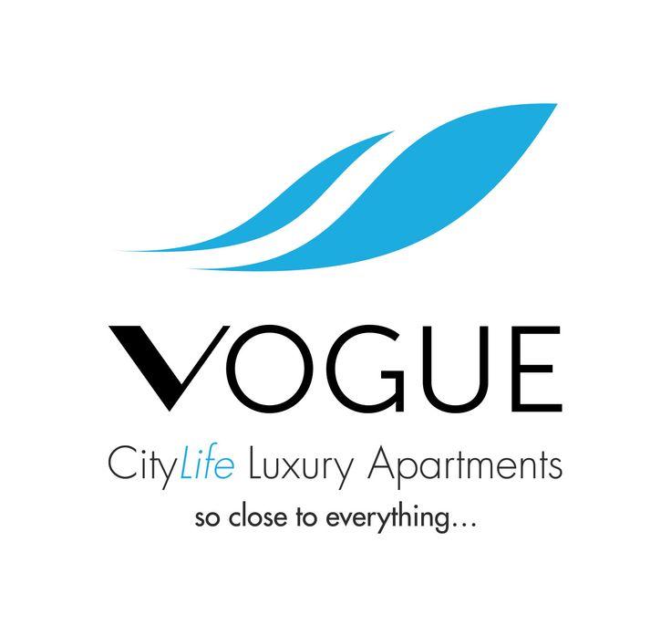 Logo design mock-up for Vogue Apartments