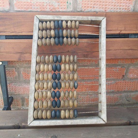 Large Vintage Wooden Abacus Retro от USSRVintageShopUSSR на Etsy