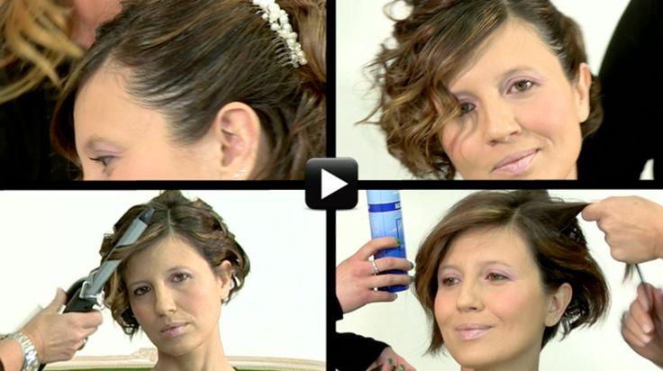 Acconciature sposa capelli corti: la scelta di Elisabetta - alfemminile