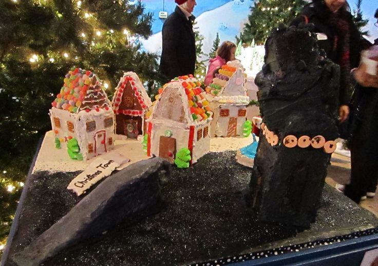 "Youth Division - ""The Nightmare Before Christmas."" Materials used: Spiced Dots, Red Hots, pretzels, Skittles, Fruit Roll-ups, and Twizzlers. (2013 entry): 2013 Entry, Fruit Rolls Up, Youth Division, Spices Dots, Houses Exhibitions, Gingerbread Houses, Red Hot"