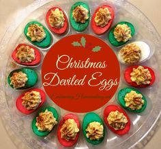 Aren't these Christmas deviled eggs cute?  I have to make these this year!