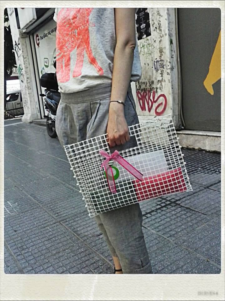 Ypcycling. Bag made from plastic fence