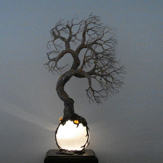88 best Lighted Lamps Wire Tree sculptures Spheres and Quartz ...