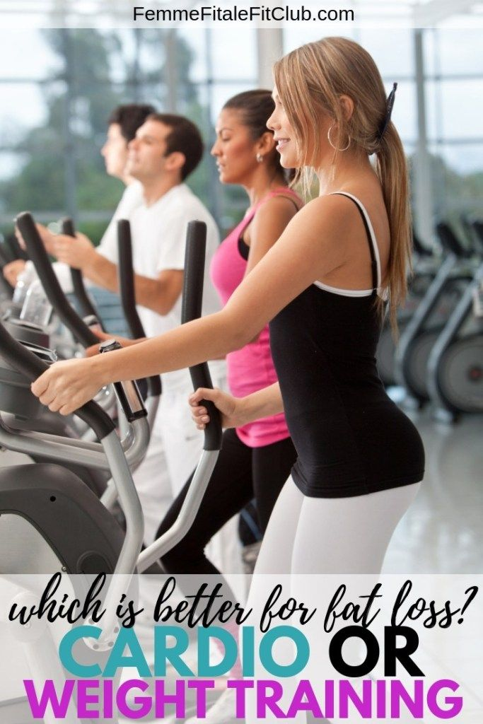 Cardio Versus Weight Training For Fat Loss Fitness Motivation