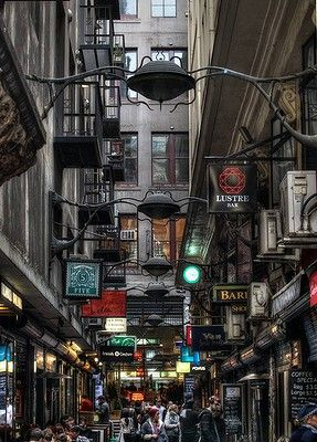 Centre Place Melbourne. The Laneways are the essence of this vibrant city