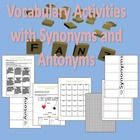 This vocabulary activity offers students a selection from 9 activities on a tic-tac-toe board involving synonyms and antonyms. These activities can be used for any set of vocabulary words  Here's what you get: -	Tic-Tac-Toe Board with 9 Activities -	Example Page  -	Synonym and Antonym Chart -	Graph Paper Print-Out -	Cut-Outs for Memory Cards -	One Foldable for Synonyms -	One Foldable for Antonyms  If you like this, check out my other Vocabulary Activities: Vocabulary Activities  Or my set of ...
