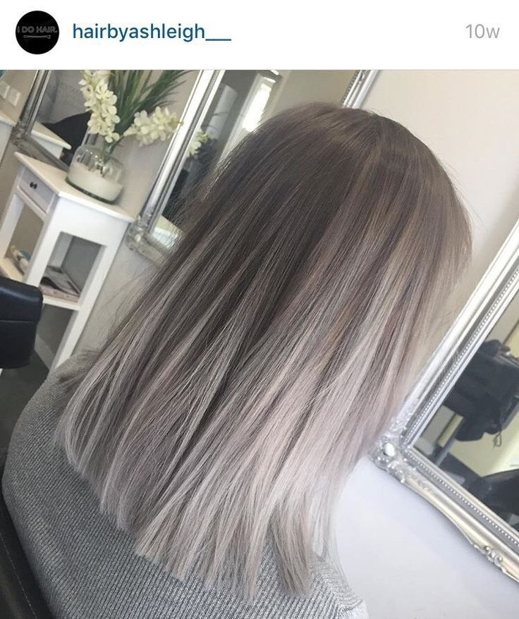 Silver ombre | Colored hair | Long hair styles, Hair color