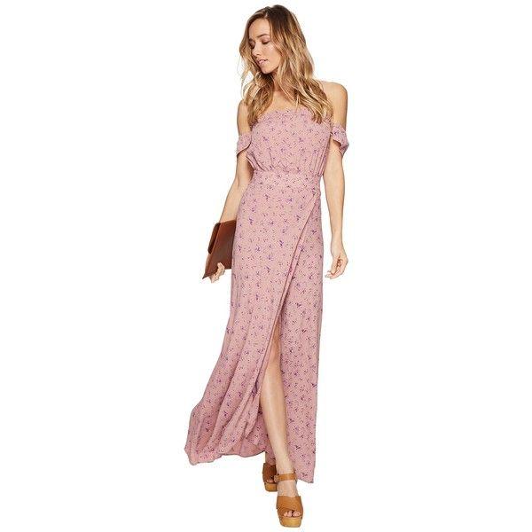 Light pink ruffle maxi dress