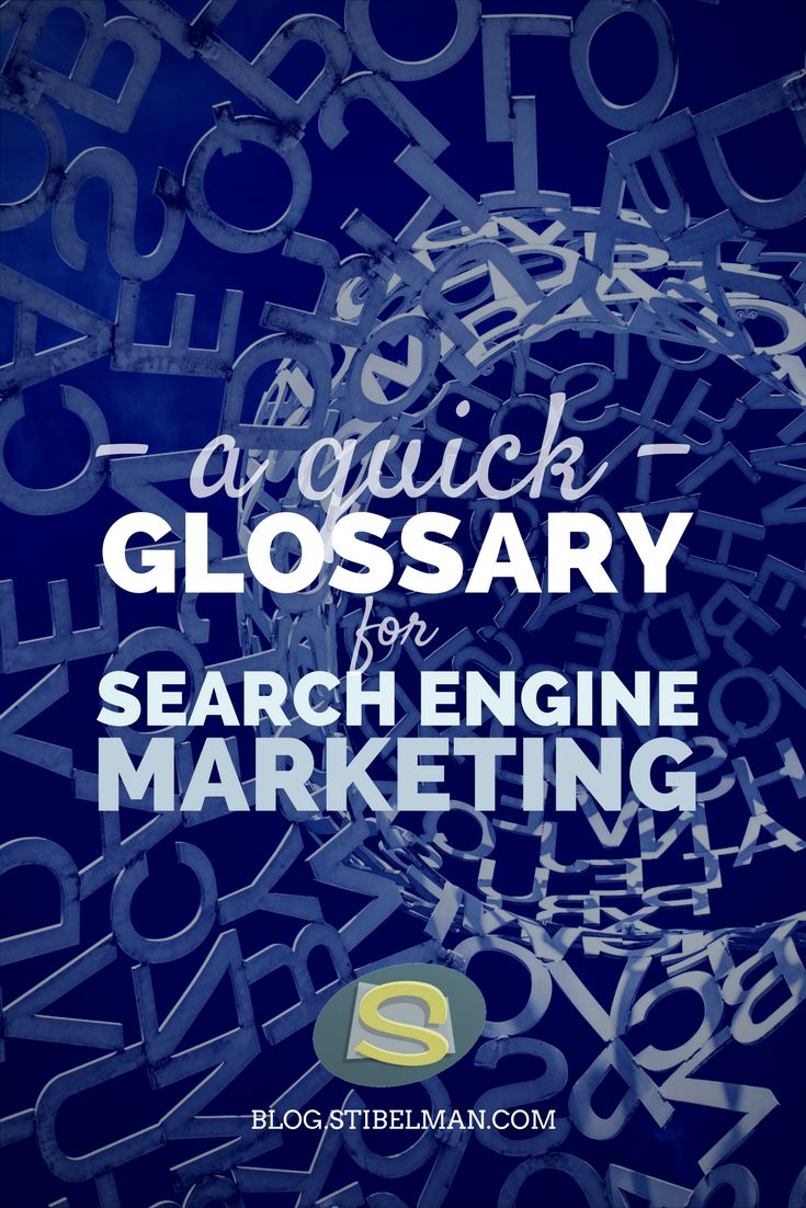 A quick glossary for Search Engine Marketing