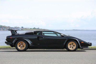 1988 Black #Lambo With Gold Accents http://www.iseecars.com/used-cars/used-lamborghini-for-sale #Lamborghini