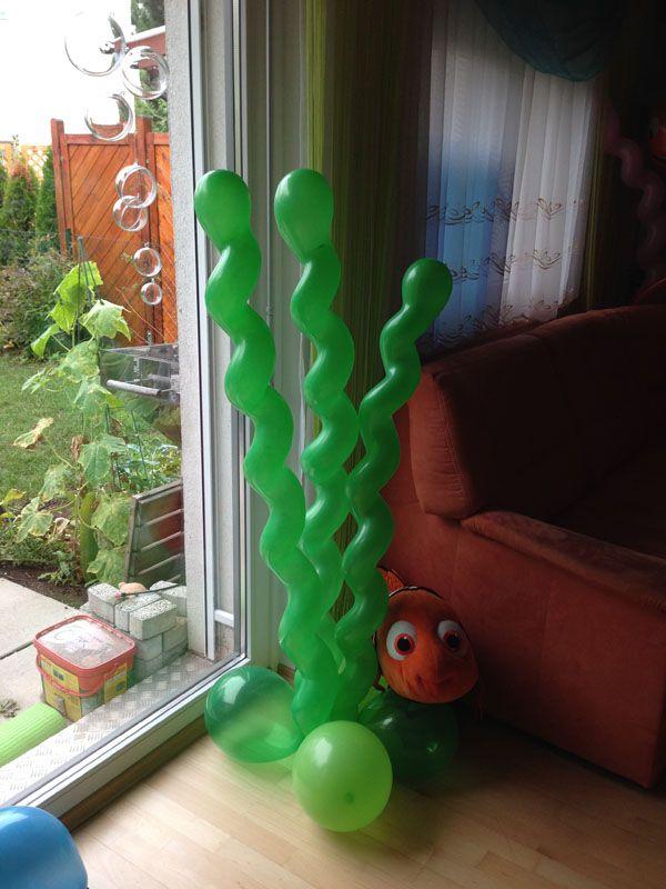 Seegras aus Luftballons