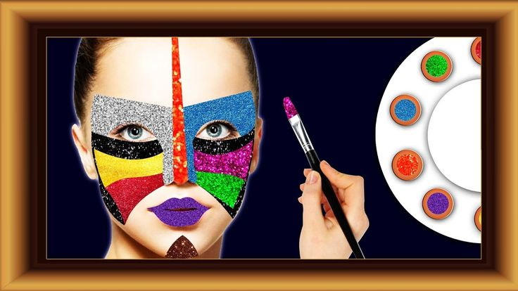 Learn Colors with Glitter face paint. Learning Videos for Kids Toddler B...
