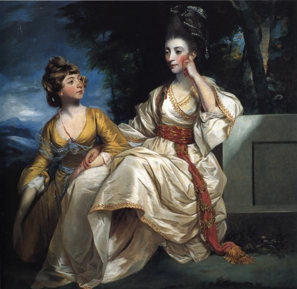 Mrs. Thrale and her Daughter Hester (Queeney)  - Joshua Reynolds 1778
