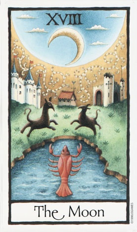The Moon ~ Old English Tarot