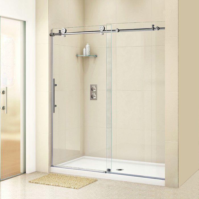 60 X 76 Single Sliding Frameless Shower Door Shower Doors Frameless Shower Doors Sliding Shower Door
