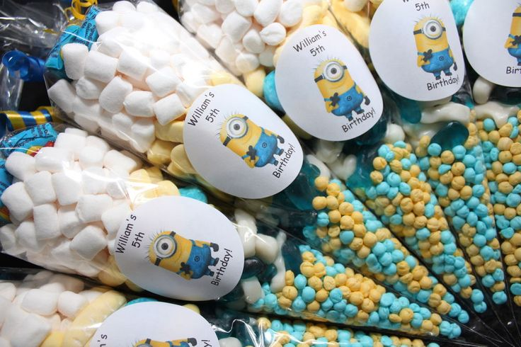 Minions Pre Filled Goody Cones Bags Birthday Sweets Party Personalised in Soft/ Chewy Sweets   eBay
