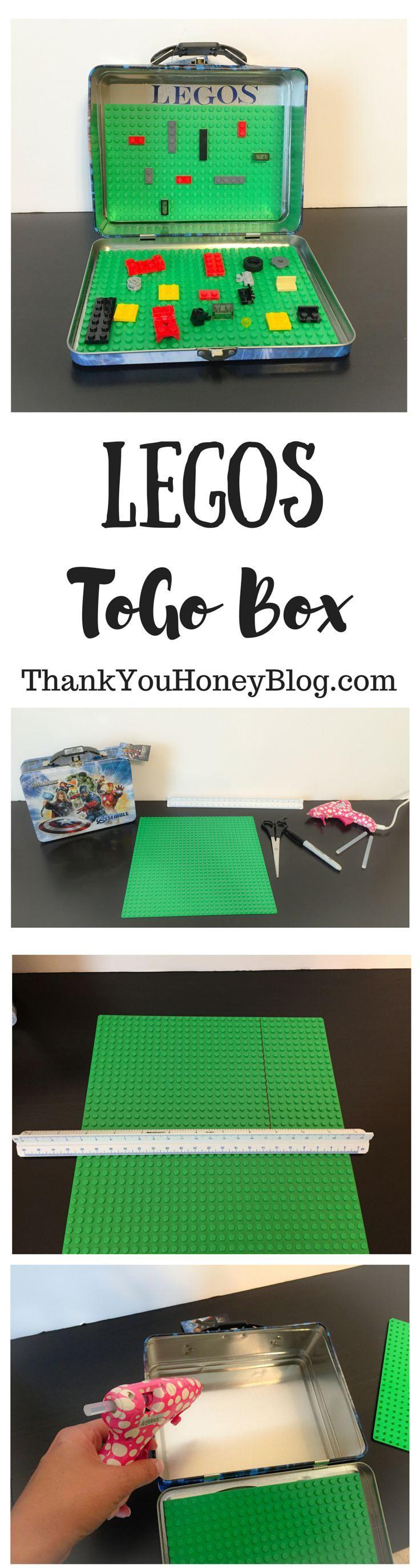 LEGOS ToGo Box, Travel LEGO Box, LEGOS, Travel, Kids, Kids Activities, Travel Activities for Kids, Traveling with kids, Travel Activities, DIY, Tutorial, Vacation, Road Trips, Plane, http://thankyouhoneyblog.com
