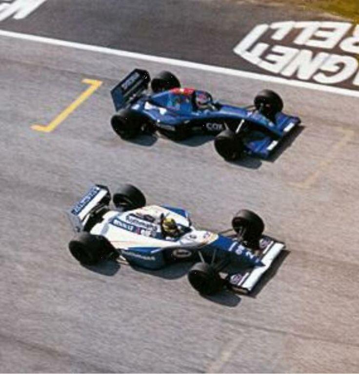 Ayrton Senna & Roland Ratzenberger at Imola during practice for the 1994 San Marino Grand Prix