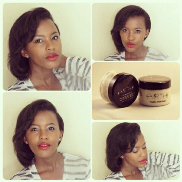 Blowdried, flat ironed natural hair. Mummy Mthembu- Fawkes using Earthy. www.earthy.co.za