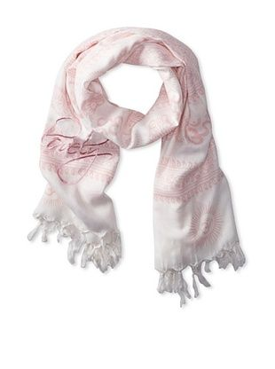 66% OFF Sir Alistair Rai Women's Om Mantra Lovely Scarf, Blanco, One Size