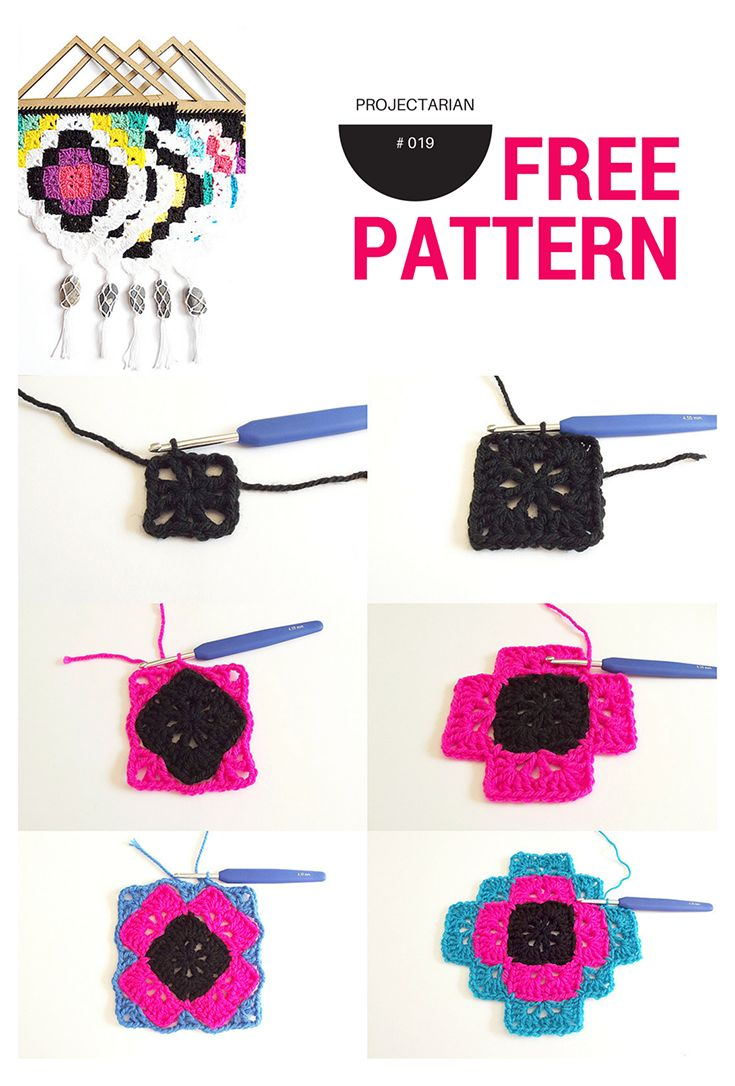 Beautiful, Easy & Free crochet pattern: tribal wall hanging. design.http://www.projectarian.com/2016/05/13/project-019-tribal-wall-hanging-free-pattern/