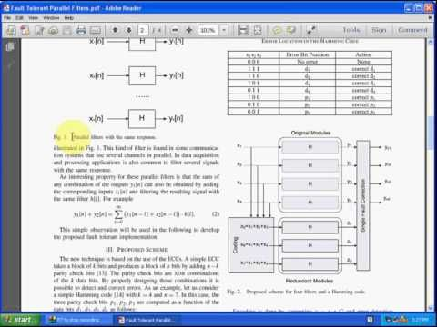 Fault Tolerant Parallel Filters Based on Error Correction Codes