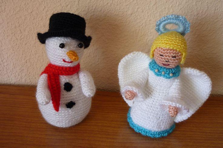 Ángel y Muñeco de Nieve