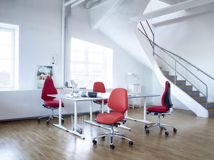 RH Mereo in red #inspiration #InspireGreatWork #design #Scandinavian #office
