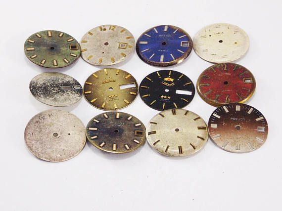 Pocket Watch Face clock parts mixed media jewelry findings