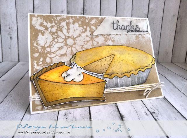 Goble, goble или Открытка на день Благодарения Thanksgiving day card