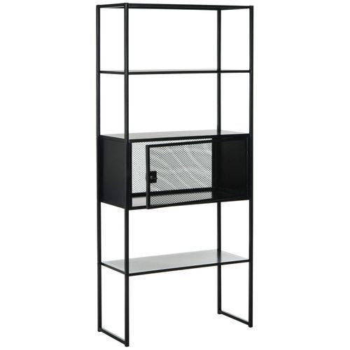 Desford Black Storage Bookshelf Bookshelves Shelves Vertical