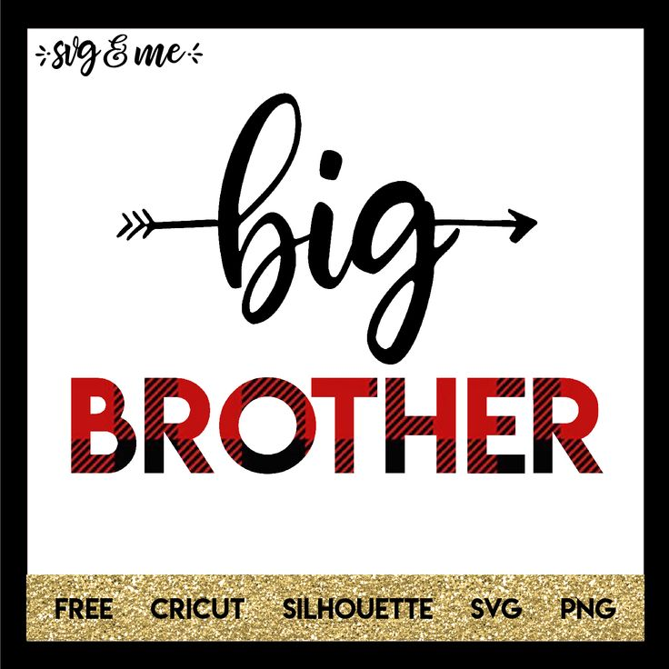 This free svg would make an adorable shirt for the big brother to the new baby in the family and we even have a matching free svg to make a onesie for the new little brother or little sister. Files are compatible with Cricut and Silhouette cutting machines.