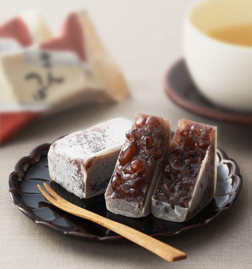村上の「きんつば」、餡炊き。 japanese dessert