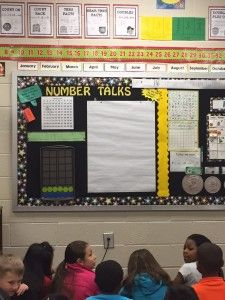 This teacher includes Number Talks during her Calendar Math time.