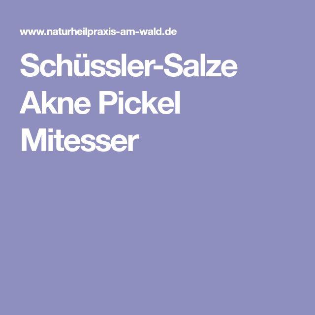 Schüssler-Salze Akne Pickel Mitesser